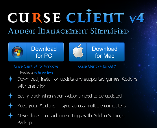 Curse client download